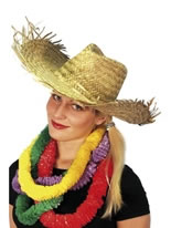 Beachcomber Hawaiian Straw Hat Straw