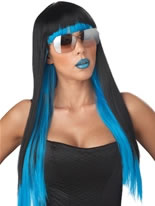 Black and Blue Diva Glam Wig