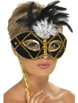 Black and Gold Eyemask