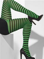 Black and Green Striped Tights
