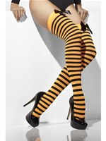 Black and Orange Striped Stockings