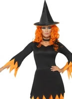 Adult Black and Orange Witch Costume