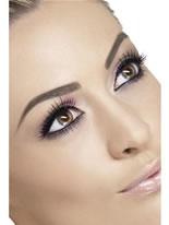 Black and Purple Eyelashes [33820]