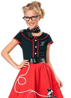 Child Black and Red 50s Sweetheart Costume [00401]