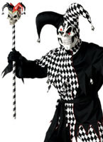 Black and White Evil Jester Costume