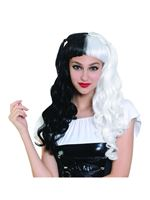 Black and White Long Wig with Bunches