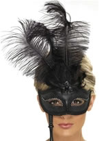 Adult Black Baroque Fantasy Eyemask
