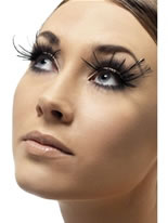 Black Feather Plume Eyelashes [34983]