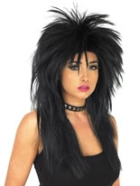 Black Glam Rock Wig [FS2887]