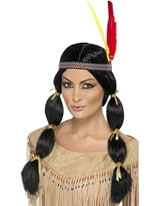 Ladies Black Indian Wig [42449]