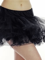 Adult Black Layered Tutu Skirt