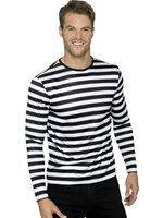 Black Long Sleeved Stripy T-Shirt