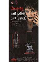 Black Nail Polish and Lipstick [9471]