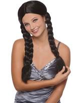 Black Natascha Pigtails Wig