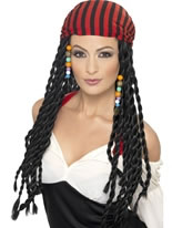 Black Pirate Princess Wig [43287]