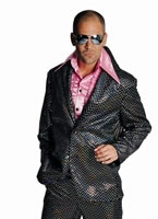 Black Sequinned Mens Disco Suit [211219-2]