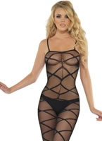Black Sheer Body Stocking