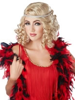 Blonde Ritzy Wig with Headband [70638]