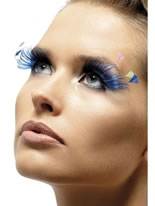 Blue Feather Plume Eyelashes [34990]