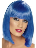 Blue Short Glam Wig