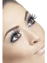 Blue Spiderweb Glitter Eyelashes