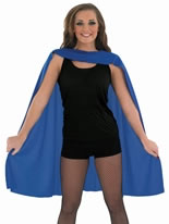 Adult Ladies Blue Super Hero Cape [FS3556]