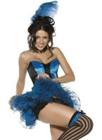 Boutique Blue Can Can Girl Costume [33050]