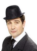 Flocked Bowler Black Hat