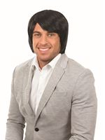 Adult Black Boy Band Wig