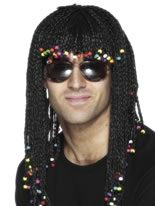 Braided And Beaded Wig Black [42071]