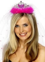 Bride-To-Be Tiara Fuchsia [30077]
