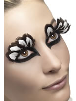 Brown and White Feather Eyelashes [24255]