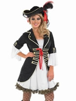 Adult Buccaneer Pirate Girl Costume