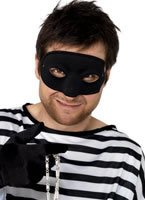 Burglars Eye Mask Black Satin [94192]