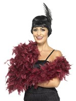 Burgundy Deluxe Feather Boa [45193]