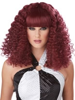 Burgundy Disco Lady Wig