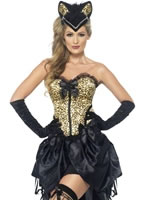 Adult Burlesque Kitty Costume [22356]
