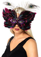 Butterfly Feather Eye Mask Red