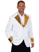 Adult Deluxe White Cabaret Bling Jacket