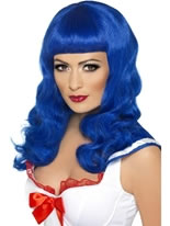 California Girl Blue Wig