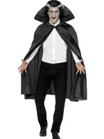 Adult Black Fabric Vampire Cape