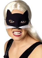 Cat Eye Mask Black Velvety [94338]