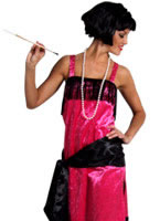 Adult Pink Charleston Flapper Dress