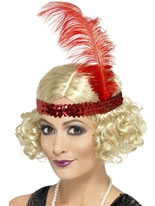 1920s Charleston Wig with Headband [43211]