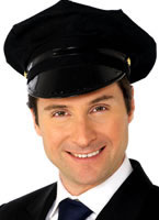 Chauffeur Hat Black [31701]