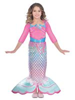 Child Barbie Rainbow Mermaid Costume