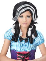 Child Black Doll Curls Wig
