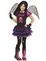 Child Pink Skull Fairy Costume