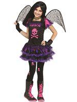 Child Pink Skull Fairy Costume [111262]