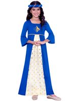 Child Blue Tudor Princess Costume